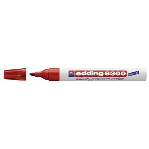 Industry Permanentmarker 8300 1,5-3mm Rundspitze rot Edding 4-8300002 Produktbild