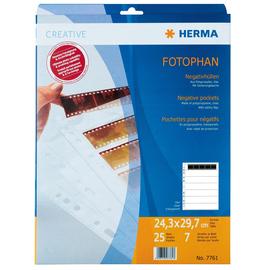 Fotohüllen Fotophan für Negative A4 243x297mm klar kunststoff Herma 7761 (PACK=25 BLATT) Produktbild