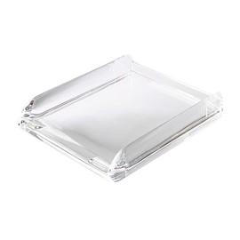 Briefkorb Nimbus für A4 270x60x320mm transparent Acryl Rexel 2101504 Produktbild