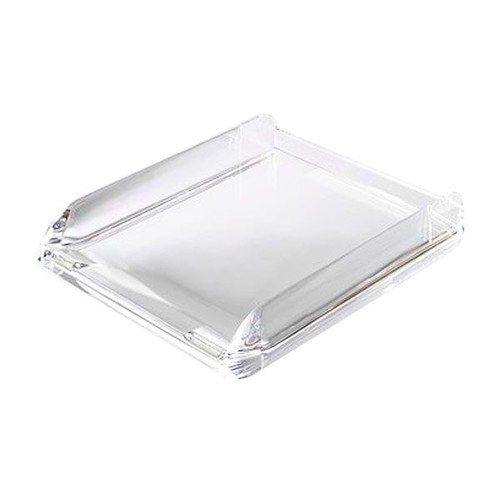 Briefkorb Nimbus für A4 270x60x320mm transparent Acryl Rexel 2101504 Produktbild Front View L