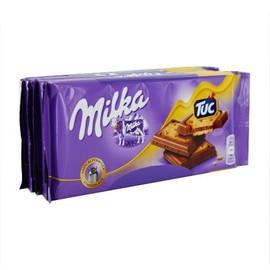 Dankeschön Schokolade Milka & Tuc Milka 5er Pack (PACK=5 TAFELN Á 100 GRAMM) Produktbild