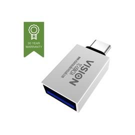 Vision - USB-Adapter - USB-C (M) bis USB Typ A (W) - USB 3.1 Gen 2 - weiß Produktbild