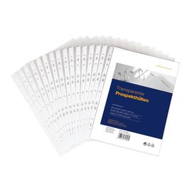 Prospekthüllen oben offen A4 80µ PP transparent genarbt BestStandard (PACK=100 STÜCK) Produktbild