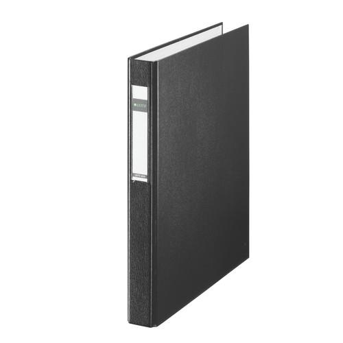 Ringbuch A4 4 Ringe Ringe-Ø25mm bis 250 Blatt schwarz PP Leitz 4212-00-95 Produktbild Front View L