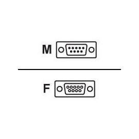 M-CAB - Kabel seriell - DB-9 (M) bis DB-9 (W) - 3 m - geformt Produktbild