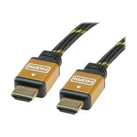Roline Gold HDMI High Speed Cable - HDMI-Kabel - HDMI (M) bis HDMI (M) - 20 m - Doppelisolierung - Schwarz, Gold Produktbild