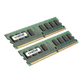 Crucial - DDR2 - 2 GB: 2 x 1 GB - DIMM 240-PIN - 667 MHz / PC2-5300 - CL5 Produktbild