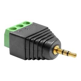 DeLOCK Adapter Stereo jack male 2.5 mm > Terminal Block - Audio-Adapter - 3-poliger Anschlussblock (M) bis Stereo Produktbild