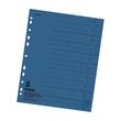 Trennblätter mit abschneidbaren Taben A4 240x300mm blau vollfarbig Karton Falken 80001605 (PACK=100 STÜCK) Produktbild