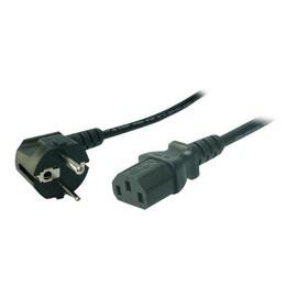 LogiLink - Stromkabel - IEC 60320 C13 bis CEE 7/7 (M) - Wechselstrom 220/250 V - 1.8 m - 90° Stecker Produktbild