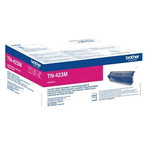 Toner für DCP-L8410CDN/HL-L8260CDW 4000 Seiten magenta Brother TN-423M Produktbild Front View L