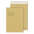 Faltentasche mit Fenster C4 229x324x40mm mit Haftklebung 140g braun (PACK=100 STÜCK) Produktbild