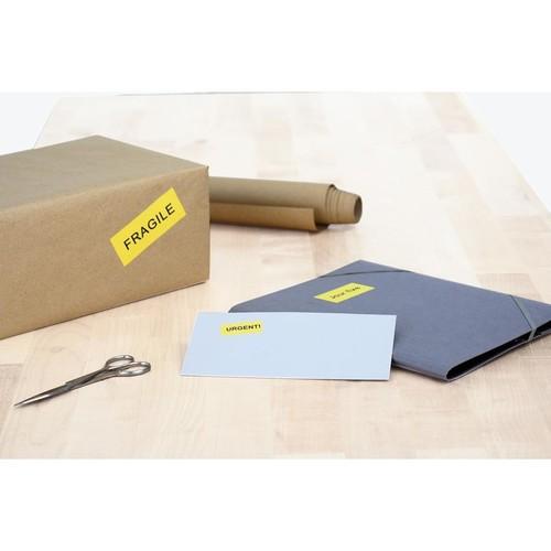 Etiketten Ink Jet+Laser+Kopier 105x37mm auf A4 Bögen gelb permanent Herma 4256 (PACK=1600 STÜCK) Produktbild Additional View 3 L