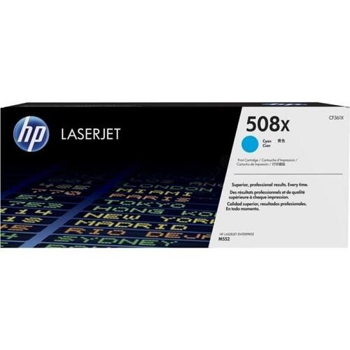 Toner 508X für Color LaserJet Enterprise M550 9500 Seiten cyan HP CF361X Produktbild Front View L
