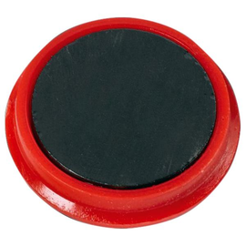 Haftmagnete ø 24mm 300g Haftkraft rot ALCO 6828V12 (PACK=10 STÜCK) Produktbild