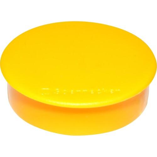 Haftmagnete ø 32mm 800g Haftkraft gelb 4804 (PACK=10 STÜCK) Produktbild Front View L
