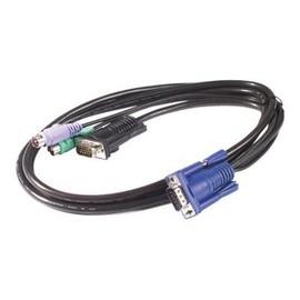 APC - Tastatur- / Video- / Maus- (KVM-) Kabel - PS/2, HD-15 (VGA) (M) bis HD-15 (VGA) (M) - 7.6 m - für APC 16 Port Produktbild