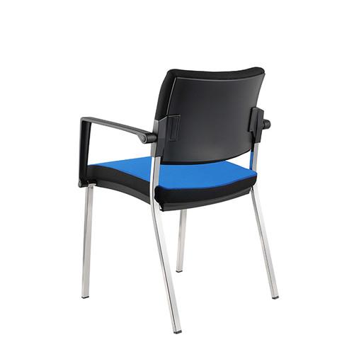 Besucherstuhl Premium 1 4-Fuß blau BestStandard (SET=2 STÜCK) Produktbild Additional View 3 L