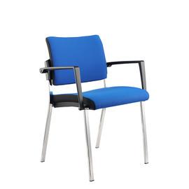 Besucherstuhl Premium 1 4-Fuß blau BestStandard (SET=2 STÜCK) Produktbild