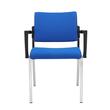 Besucherstuhl Premium 1 4-Fuß blau BestStandard (SET=2 STÜCK) Produktbild Additional View 5 S