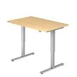 Schreibtisch elektrisch verstellbar 120x80cm ahorn BestStandard Produktbild