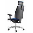 Drehstuhl Premium 1 VSDP1 mit Armlehnen blau BestStandard Produktbild Additional View 3 S