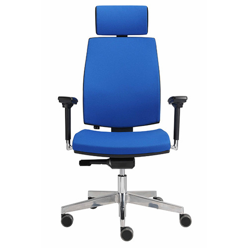 Drehstuhl Premium 1 VSDP1 mit Armlehnen blau BestStandard Produktbild Additional View 2 L