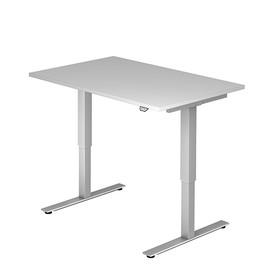 Schreibtisch elektrisch verstellbar 120x80cm grau BestStandard Produktbild