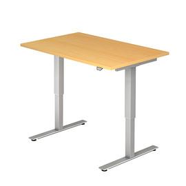 Schreibtisch elektrisch verstellbar 120x80cm buche BestStandard Produktbild
