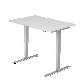 Schreibtisch elektrisch verstellbar 120x80cm weiß BestStandard Produktbild