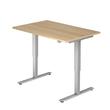 Schreibtisch elektrisch verstellbar 120x80cm eiche BestStandard Produktbild