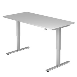 Schreibtisch elektrisch verstellbar 160x80cm grau BestStandard Produktbild