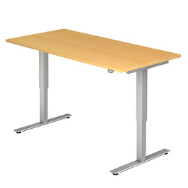 Schreibtisch elektrisch verstellbar 160x80cm buche BestStandard Produktbild