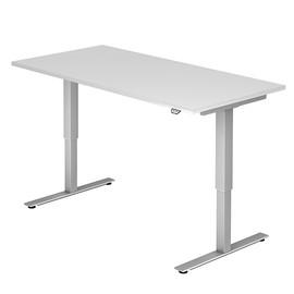 Schreibtisch elektrisch verstellbar 160x80cm weiß BestStandard Produktbild