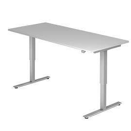Schreibtisch elektrisch verstellbar 180x80cm grau BestStandard Produktbild
