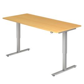Schreibtisch elektrisch verstellbar 180x80cm buche BestStandard Produktbild