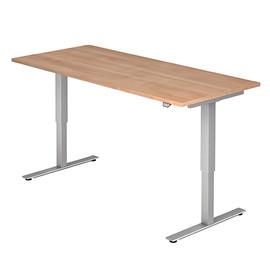 Schreibtisch elektrisch verstellbar 180x80cm nussbaum BestStandard Produktbild