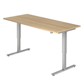 Schreibtisch elektrisch verstellbar 180x80cm eiche BestStandard Produktbild