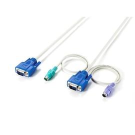 LevelOne ACC-2010 - Tastatur- / Video- / Maus- (KVM-) Kabel - HD-15 (VGA) (M) bis PS/2, HD-15 (VGA) - 10 m - für Produktbild