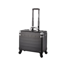 Pilotenkoffer mit Trolleysystem PANDORA 36x47x25cm schwarz matt Aluminium Alumaxx 45169 Produktbild