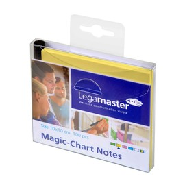 Folien Haftnotizen Magic Chart Notes 10x10cm gelb Legamaster 7-159505 (PACK=100 BLATT) Produktbild