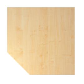 Verkettungsplatte HT12 120x120cm trapezform ahorn/silber BestStandard Produktbild