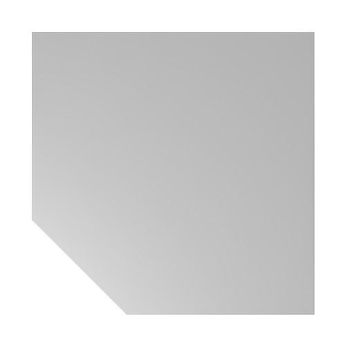 Verkettungsplatte HT12 120x120cm trapezform grau/silber BestStandard Produktbild Front View L
