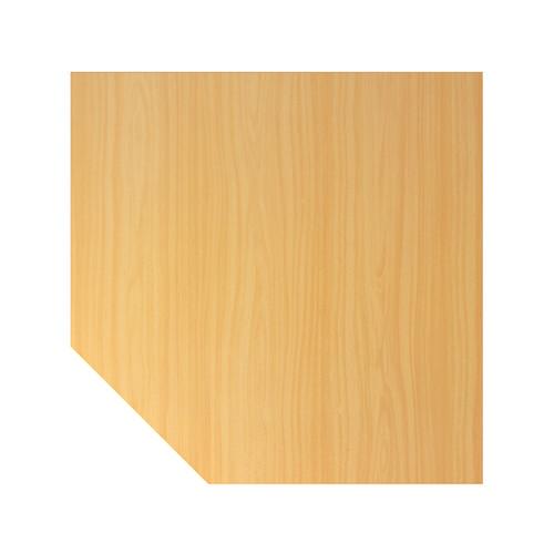Verkettungsplatte HT12 120x120cm trapezform buche/silber BestStandard Produktbild Front View L