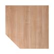 Verkettungsplatte HT12 120x120cm trapezform nussbaum/silber BestStandard Produktbild