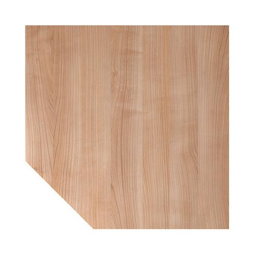 Verkettungsplatte HT12 120x120cm trapezform nussbaum/silber BestStandard Produktbild Front View L