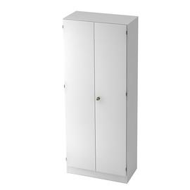 Garderobenschrank 5 OH 80x42x200,4cm Drehtüren weiß/weiß BestStandard Produktbild