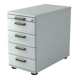 Standcontainer SC50 SG 42,8x72-76x80cm Korpus/Front grau BestStandard Produktbild