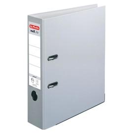 Ordner maX.file protect A4 80mm grau PP Herlitz 5480900 Produktbild