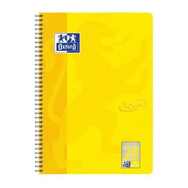 Collegeblock Oxford Touch A4+ kariert Lineatur 28 80 Blatt 90g Optik Paper weiß sonnengelb 400086495 Produktbild